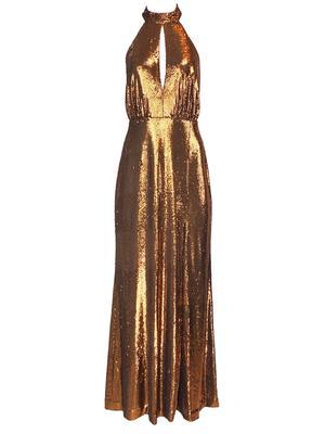 Brinley Sequin Halter Gown
