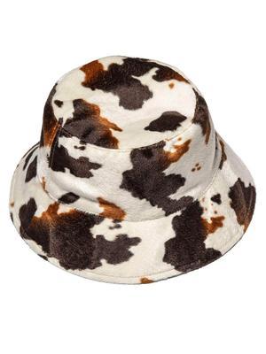 Faux Cowhide Bucket Hat
