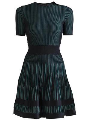 Textured Knit Heath Dress