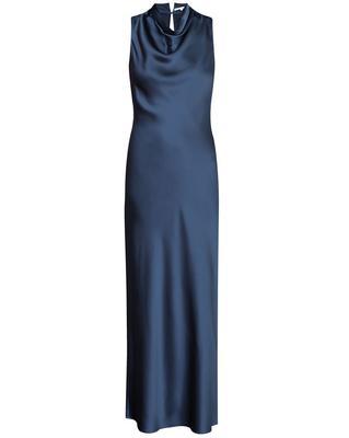 Kura Satin Cowl Neck Dress