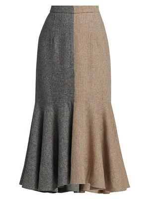 Tanya Colorblock Midi Skirt