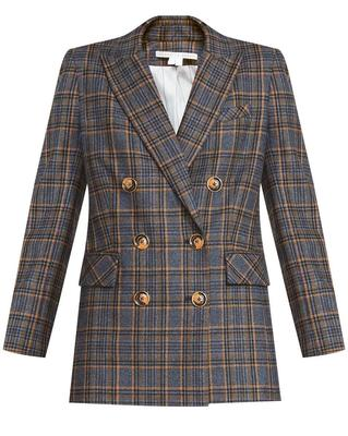 Ellette Plaid Double Breasted Dickey Jacket