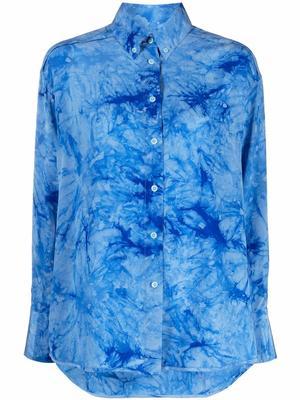 Tie Dye Silk Shirt