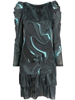 Neptune Swirl Mesh Dress