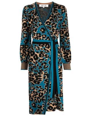 Lois Animal Print Wrap Dress