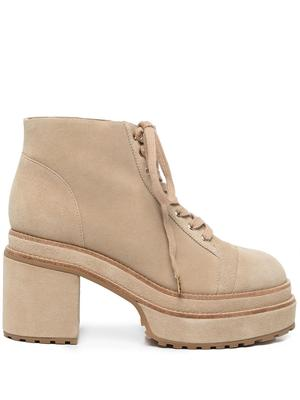 Chunky Suede Lace-Up Boot