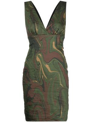 Camo Swirl Fitted Dress