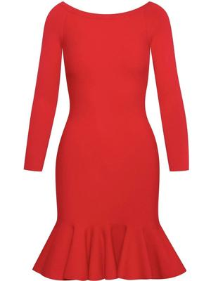 Off the Shoulder Ruffle Hem Dress