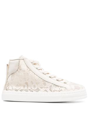 Lauren Lace High Top Sneaker