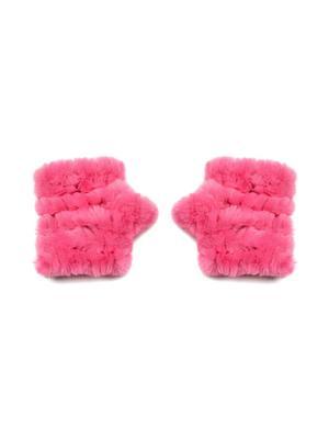 Knitted Faux Fur Fingerless Mandy Mitten