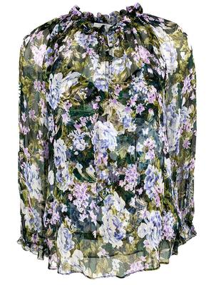 Karla Floral Silk Blouse