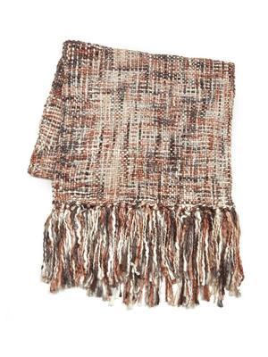 Multi Yarn Tweed Blanket Scarf