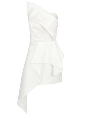Asymmetrical Peplum Cocktail Dress