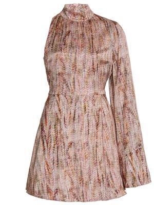 Capi One Sleeve Mini Dress