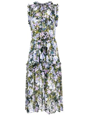 Gemma Silk Crinkle Chiffon Dress