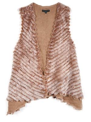 Faux Fur Asymmetrical Vest