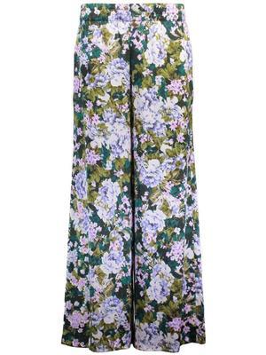 Jade Silk Satin Printed Pant
