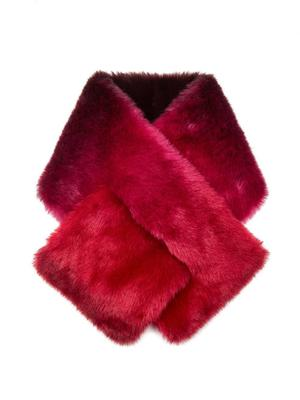 Ombre Pull Through Faux Fur Scarf
