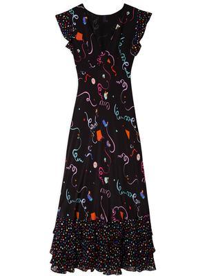 Isabelle Mixed Print Maxi Dress