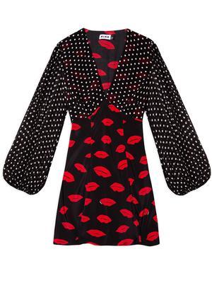 Lia Mixed Print Mini Dress