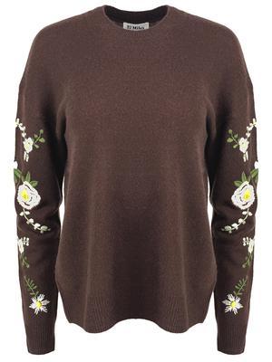 Kara Embroidered Flower Sweater