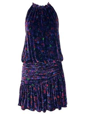 Dolores Printed Velvet Dress