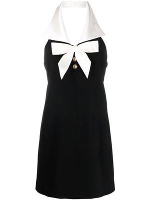 Bow Detail Halter Mini Dress