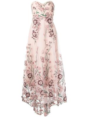 Embroidered Sweetheart Gown