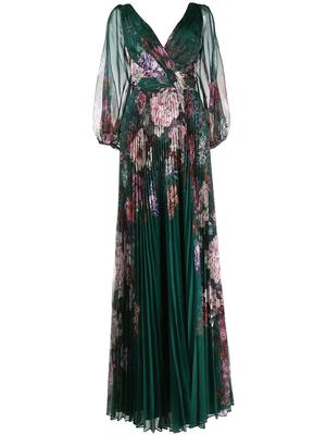 Floral Pleated Gown