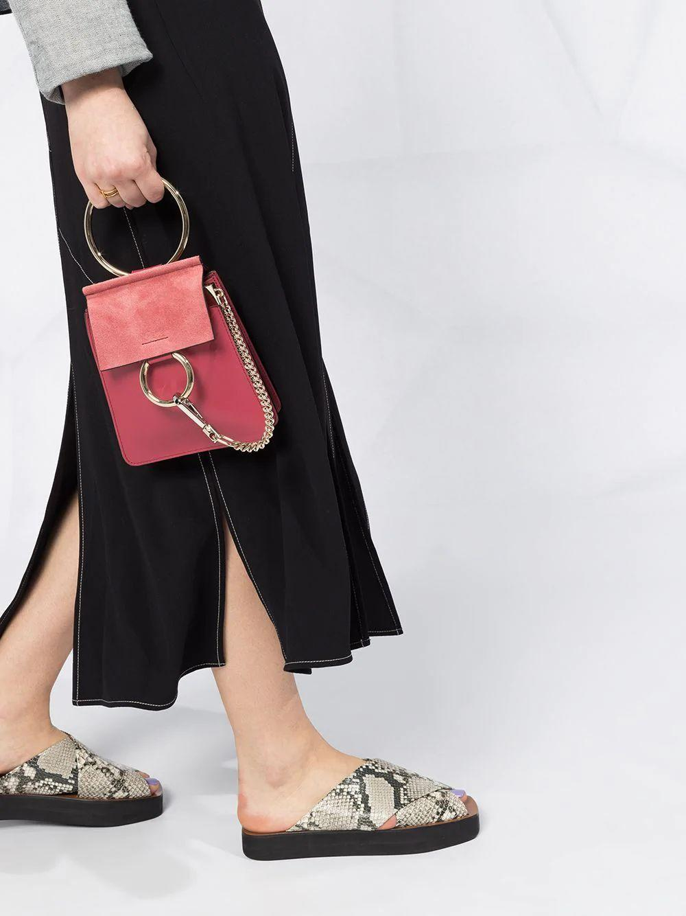 Chloé Faye Smooth and Suede Calfskin Bracelet Bag | Tootsies